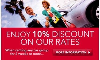 10% off on our rates!