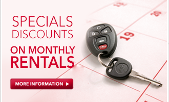Get special discounts on montly rentals